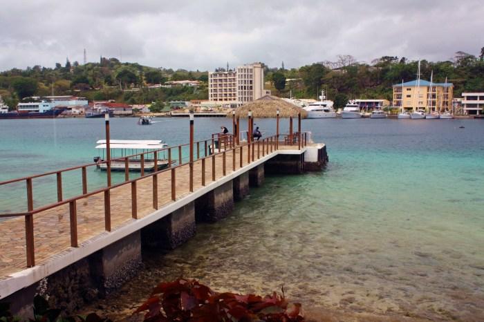 View of Port Vila from Irririki Island