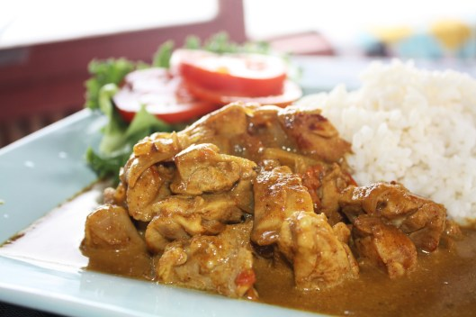 Chicken Curry at Turtle Bay Resort, Vanuatu