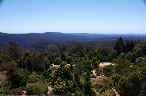 Sweeping view of the Blue Mountains from the Restaurant