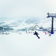 Snowing at Perisher Valley