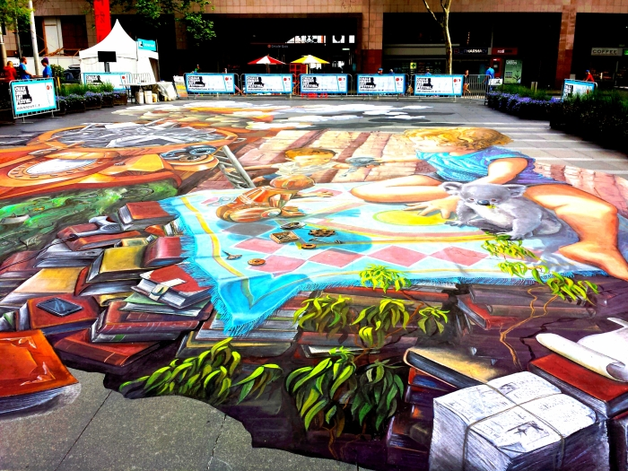 Australia's Largest 3d Chalk Art - 2014