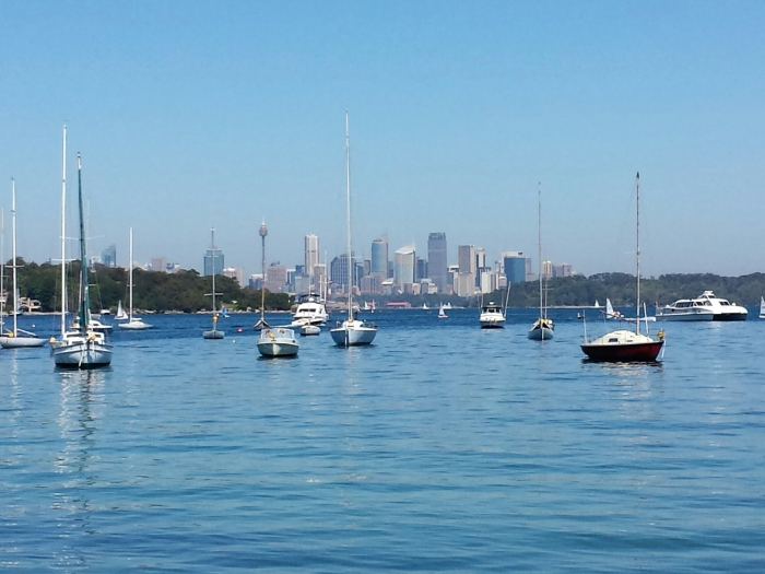 View of Sydney Skyline from Watsons Bay