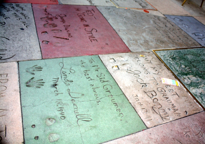 Footprints and Handprints of Iconic Celebrities