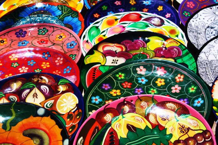 Colourful Mexican Plates