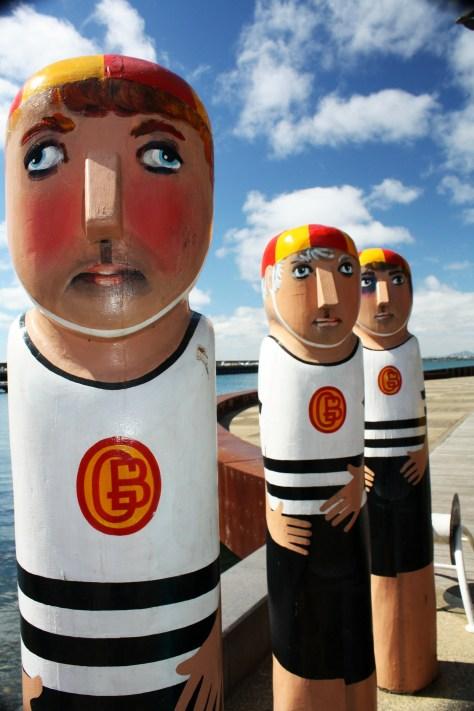 Lifesavers Timber Sculptures