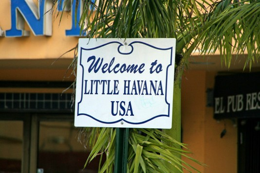 Welcome to Little Havana Sign